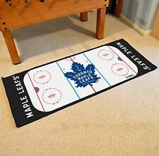 "Toronto Maple Leafs 30"" X 72"" Hockey Rink Runner Area Rug Floor Mat"