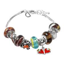 De Buman Multicolor Glass Beads Charm Bracelet for Kids,  6.7''+1.18'' extender