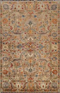 Vegetable Dye Floral Ziegler Oriental Area Rug Hand-Knotted Wool 6x8 NEW Carpet