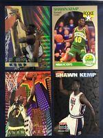SHAWN KEMP 4 Card LOT ROOKIE RC 1990-91 HOOPS #279 Bowmans Best Ultra Fleer