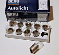 10x BERU R10W Kugellampe BA15s 12V 10W Glühbirne Autolampe Lampe Leuchtmittel