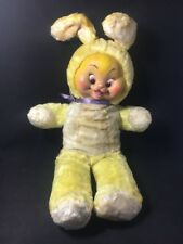 "RARE Vintage 24"" Rushton Star Creation Rubber Face Easter Bunny Rabbit"