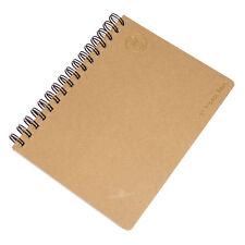 Libro De Proyectos Marrón A5 80 Hoja Forrado De Papel Oficina Libreta Memo Pad Journal