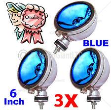 "3x 6"" Blue Angel Eye alogena h3 Faretti Spot Luce Antinebbia Per Auto Furgone Scooter"