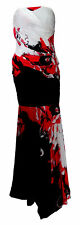 Abito Donna Woman Vestito Dress Allure Maestri Nero Black ricamo fiori  Chius...