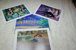 Walt Disney Inc. The Little Mermaid Lithograph Portfolio Set of 3 Pictures