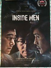 Lee Byung-hun autographed INSIDE MEN poster 21 x 14.5