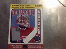 2014/15 UPPER DECK O PEE CHEE HOCKEY BOX FACT SEALD RETAIL BOX