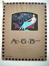"Stunning Art Deco July 1922 Parisian Fashion Magazine Titled ""Art Cout Beaute"" *"
