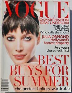 1995 July VOGUE 90s vintage fashion magazine fashion Stella Tennant posh watches