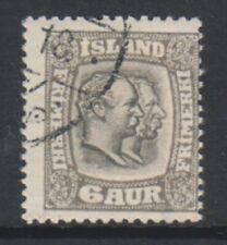 Iceland - 1918, 6a stamp - Wmk Mult Crosses - F/U - SG 113