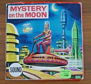 * RARE * SPACE PATROL MYSTERY ON THE MOON BOX / SWAMPS OF JUPITER 8mm FILM K907