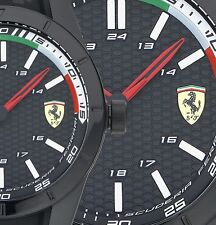 GENUINE FERRARI WATCH MODEL 0830301- BOXED & TAGGED SCUDERIA MENS RED REV BLACK
