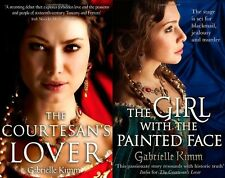 GABRIELLE KIMM __ 2 BOOK SET __ COURTESAN'S LOVER GIRL WITH PAINTED FACE __  NEW