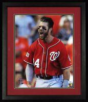 Beautiful Bryce Harper Signed NLDS Playoffs Framed 16x20 Photo PSA DNA Sticker