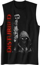 DISTURBED  UP YOUR FIST USA IMPORT TANK TOP  COTTON FRONT PRINT MACHINE WASH