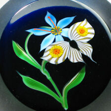 """Correia Glass Paperweight """"Butterfly Flower"""" Limited Edition Nr. 92/200"""