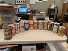 Vintage Pull Tab Beer Can Collection ca 1970s Lot of 12 Flat Top Wide Seam