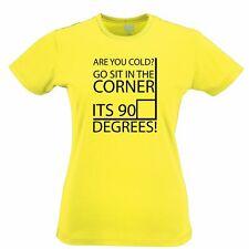 Nerd Womens TShirt Cold? Sit In The Corner! It's 90 Degrees! Funny Math Joke Pun
