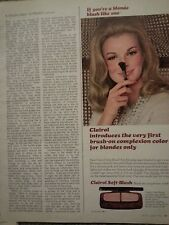 1966 Clairol Blonde Blush On Complexion Color For Blondes Only Original Ad