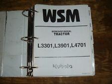 Kubota L3301 L3901 L4701 Tractor Shop Service Repair Manual