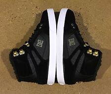 DC Spartan High WC WNT Men's Size 7 US Black Gold BMX MOTO Skate Shoes Sneakers