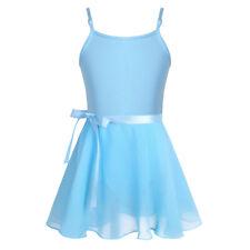 Girls Ballet Leotards+Tutu Wrap Skirt Dance Dress Gymnastics Costumes Dancewear