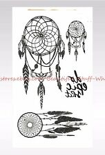 US SELLER- native American dream catcher temporary tattoo body art tattoos