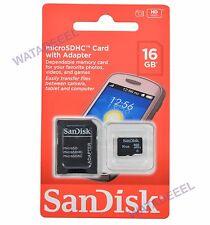 GENUINE SanDisk 16GB Micro SDHC Memory Card 16 GB Class 4 SD TF BRAND NEW!