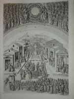 Baccio BALDINI (1436-1487) ? GRAVURE RENAISSANCE PREDICTION MARC FIRENZE ITALIE