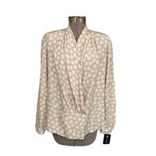 EVAN-PICONE BLACK LABEL (16) BLOUSE TAN/CREAM VINTAGE (MSR:$79)