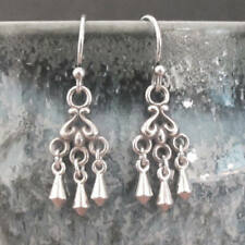 djs Sundance Sol Tiny Sterling Silver Chandelier Circle Drop Dangle Earrings