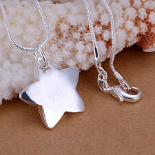 Wholesale Price Solid Silver Jewelry Children Star in Star Pencant Neckace PW032
