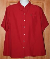 Vintage 90's McDonalds REd Uniform Work Shirt Size XL Button Down Rayon-Poly