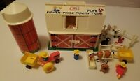 Fisher Price Little People Family Farm Barn Silo Animals Fence Vintage