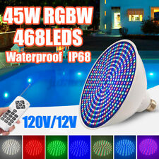 468LED RGBW Swimming Pool Light IP68 Remote Control Fountain Underwater Light
