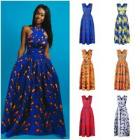 African Dashiki Womens Maxi Dress Convertible Multi Way Evening Party Long Dress