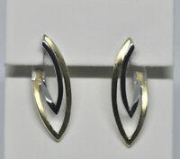 Echt 925 Sterling Silber Ohrringe Creolen gelbgold  Hochzeit Nr 251