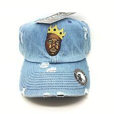 Denim Distressed Biggie Vtg Style Dad Cap Hat