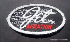 "JET AERATION EMBROIDERED SEW ON PATCH MURDON CORP PUMP ADVERTISING  4"" x 2"""