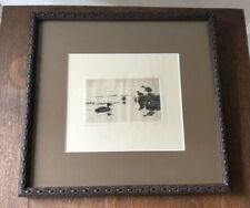 Original Frank Benson Signed Sporting Art Drypoint Etching - The Visitor, 1918