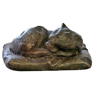 Skulptur SCHLAFENDE KATZE Bronze limitiert signiert KIENBERGER nur 25 Exemplare