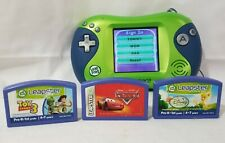 LeapFrog Leapster 2 Handheld Learning Game System Green w/ 3 Games Tested w/case
