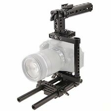 CAMVATE Camera Cage Rig w/Top Handle Mount Plate For Sony D7100 D7200 a711 GH2
