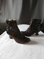 boots/bottines harlot cuir marron chocolat pointure 37