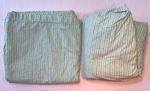 sheet set RALPH LAUREN King Flat & Fitted Green with Purple White Red Striped