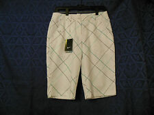 NIKE WOMENS GOLF SHORTS DRI FIT STAY COOL SIZE 4 PLAID NEW WITH TAGS NWT