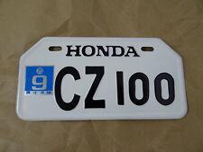 HONDA CZ100 CZ 100 MONKEYBIKE MINIBIKE JAPANESE LICENSE PLATE  // NEW
