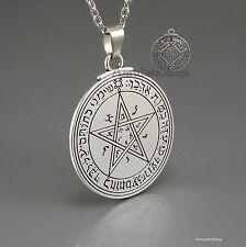 Pentacle sceau de vénus talisman amulette du roi salomon, solomon pendentif avec chaîne