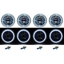 5-3/4 SMD White LED Halo Halogen Bulb Headlight Angel Eye Crystal Clear Set Of 4